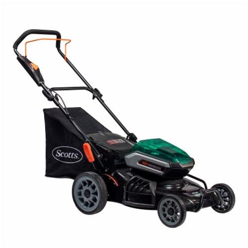 Scotts® 40-Volt Lithium Cordless Electric Lawn Mower Perspective: front