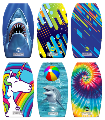 JGR Copa Body Board with Leash - Assorted Perspective: front