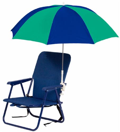 Copa Clip On Umbrella - Blue/Green Perspective: front