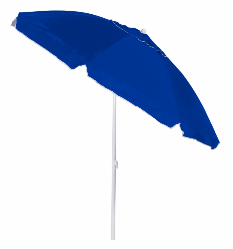 Copa Umbrella with Vent and Tilt - Blue Perspective: front