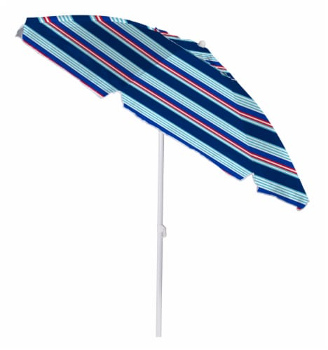 COPA Patio Umbrella - Red/Blue Perspective: front