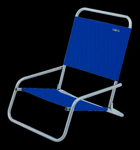 COPA Steel Sand Chair - Blue Perspective: front
