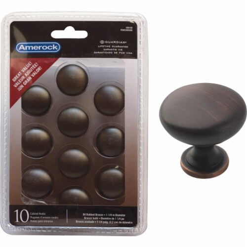 Amerock Allison Oil Rubbed Bronze Cabinet Knobs Perspective: front