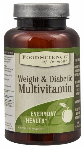 FoodScience of Vermont  Weight & Diabetic Multivitamin Perspective: front