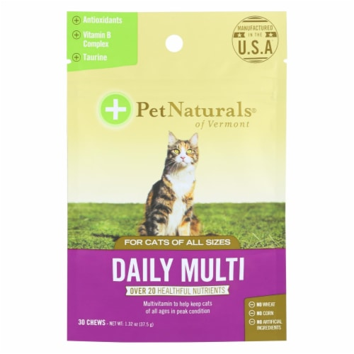 Pet Naturals Daily Multivitamin Cat Chew Perspective: front
