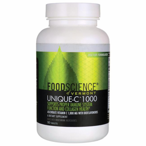 FoodScience of Vermont Unique-C 1000 Vegetarian Tablets Perspective: front