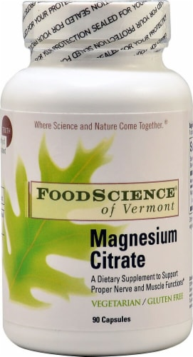 FoodScience of Vermont  Magnesium Plus™ Perspective: front