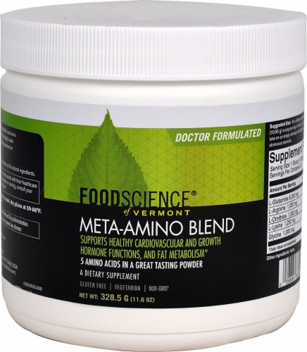 FoodScience of Vermont Meta-Amino Blend Perspective: front