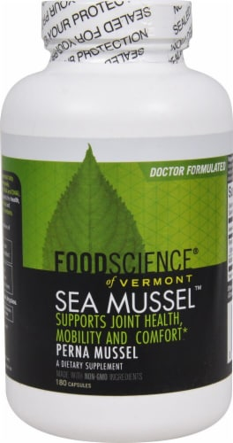 FoodScience of Vermont  Sea Mussel Capsules Perspective: front