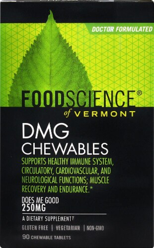FoodScience of Vermont DMG Chewable Tablets Perspective: front