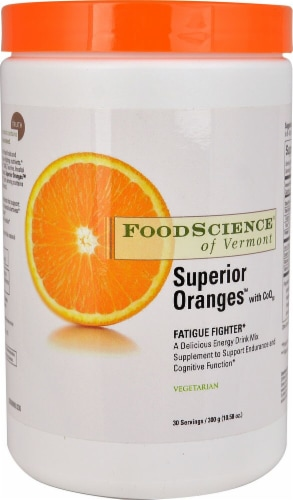 FoodScience of Vermont  Superior Oranges with CoQ10 Perspective: front