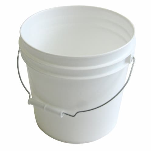 Argee White 2 Gallon Plastic Bucket Perspective: front