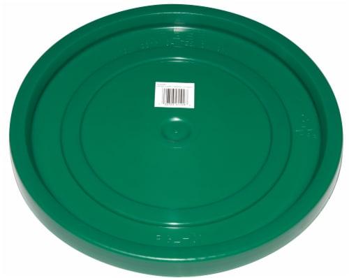 Turf King EZ-Off Plastic Bucket Lid - Green Perspective: front