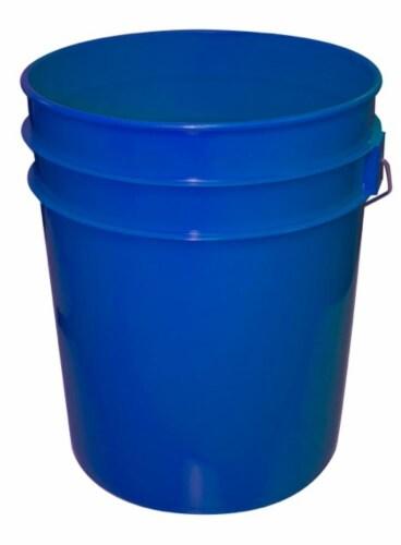 Argee Heavy Duty Plastic Pail - 5 Gallon - Blue Perspective: front