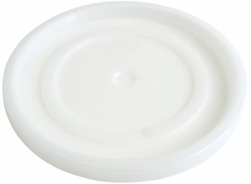 Argee 5-Gallon Plastic Bucket Lid - White Perspective: front
