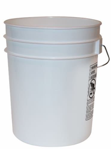 Argee Food Safe Bucket - White Perspective: front