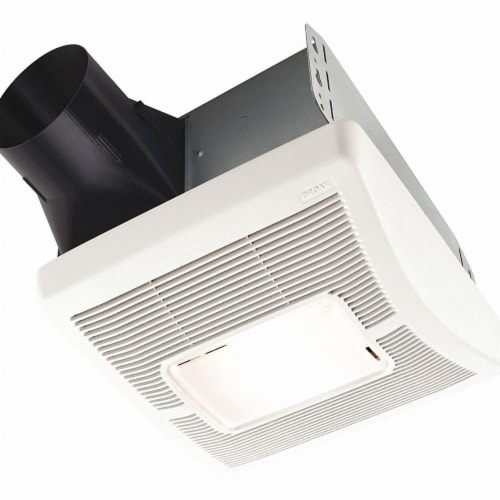 Broan Flex Series 50 CFM 1.5 Sones 120V Bath Exhaust Fan with Light A50L Perspective: front