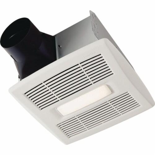 Broan Flex Series 110 CFM 1.0 Sones Bathroom Exhaust Fan with Light AE110L Perspective: front