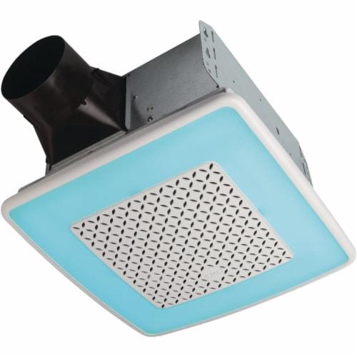 Broan 110cfm Chrma Lt Bath Fan AER110RGBL Perspective: front