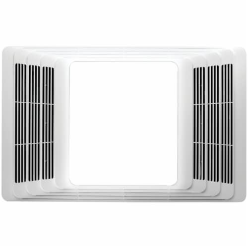 Broan 80 CFM 2.0 Sone Bath Exhaust Fan with Heater & Light 765H80LB Perspective: front