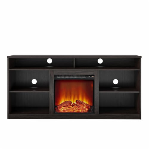 RealRooms Vesta Fireplace TV Stand for TVs up to 65 , Espresso Perspective: front