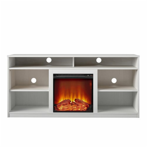 RealRooms Vesta Fireplace TV Stand for TVs up to 65 , White Perspective: front