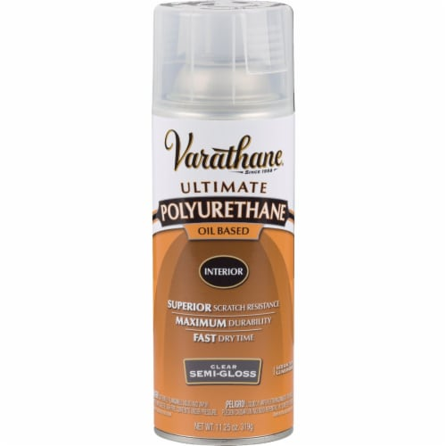 Varathane® Ultimate Polyurethane Semi-Gloss Oil-Based Wood Finish Spray - Clear Perspective: front