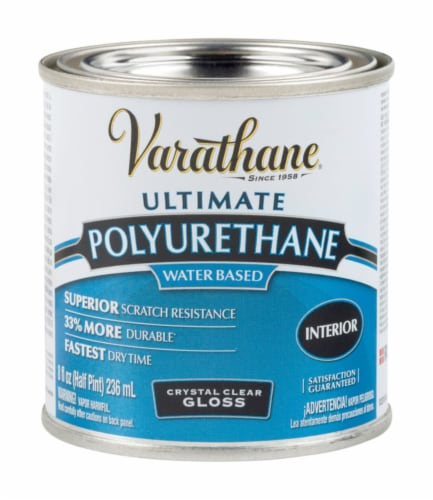 Varathane® Ultimate Polyurethane Crystal Clear Gloss Water-Based Wood Finish Perspective: front