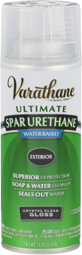 Varathane® Ultimate Spar Urethane Water-Based Gloss Finish Spray - Crystal Clear Perspective: front