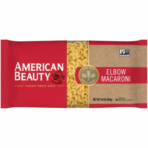 American Beauty Elbow Macaroni Pasta Perspective: front