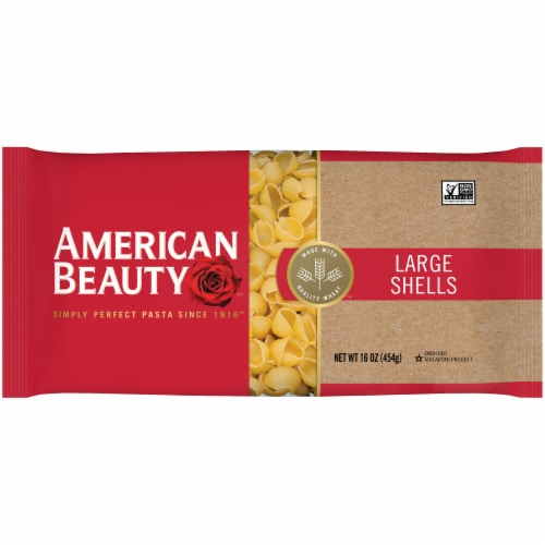 American Beauty Large Shells Pasta Perspective: front