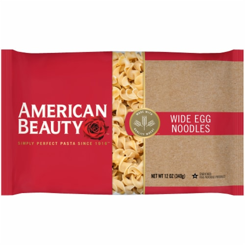 American Beauty Wide Egg Noodles Perspective: front