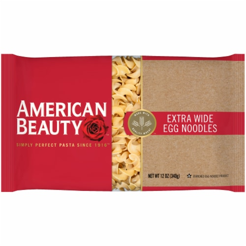 American Beauty Extra Wide Egg Noodles Perspective: front