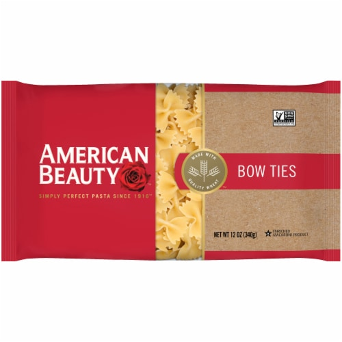 American Beauty Bow Ties Pasta Perspective: front