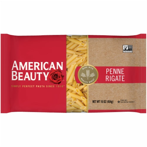 American Beauty Penne Rigate Pasta Noodles Perspective: front