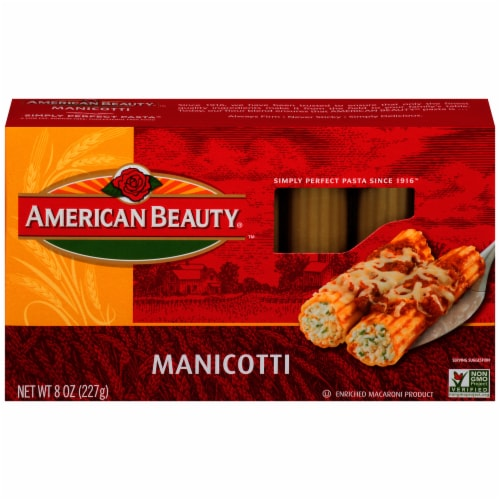American Beauty Manicotti Pasta Perspective: front
