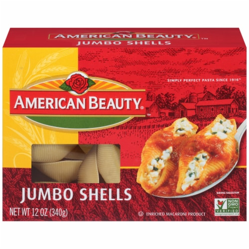 American Beauty Jumbo Shells Pasta Perspective: front