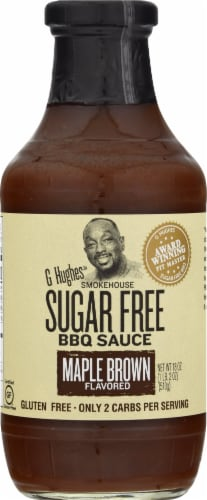 G Hughes Maple Brown Sugar Free BBQ Sauce Perspective: front