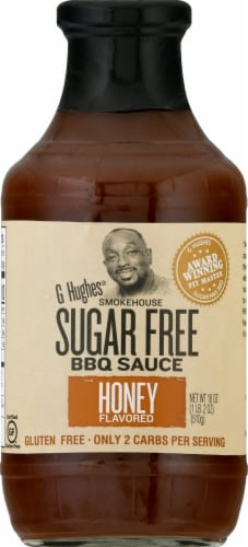 G Hughes Sugar Free Honey Smokehouse BBQ Sauce Perspective: front
