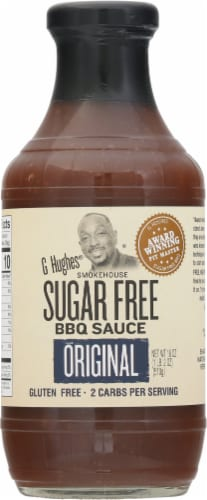 G Hughes Sugar Free Original Smokehouse BBQ Sauce Perspective: front