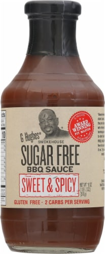 G Hughes Sugar Free Sweet & Spicy BBQ Sauce Perspective: front