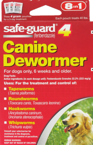 8 In 1 Safeguard 8 in Large Dog Dewormer Perspective: front