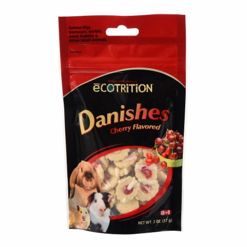 Ecotrition Cherry Flavored Danishes for Dogs Perspective: front