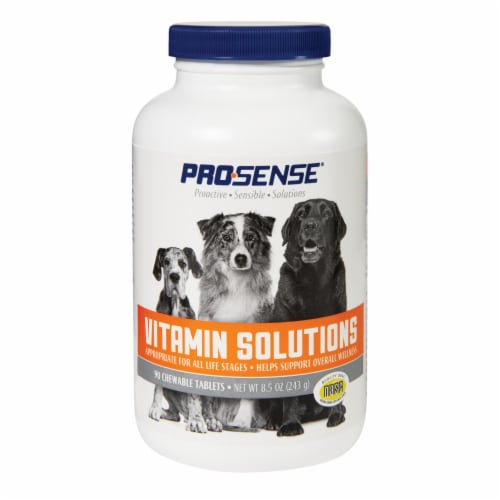Pro-Sense Vitamin Solutions for Dogs Chewable Tablets Perspective: front