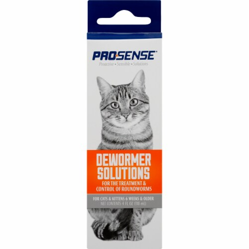 Pro-Sense Dewormer Solutions for Cats Perspective: front