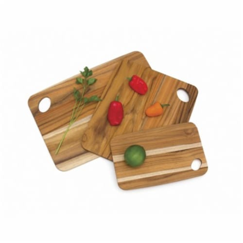 Lipper International Multi Size Versatile Home Carving Board, Set of 3, Teak Perspective: front