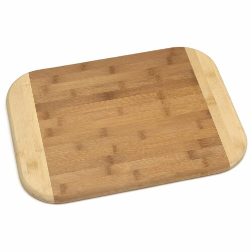 Lipper International Large Versatile Home 2 Toned Kitchen Carving Board, Bamboo Perspective: front