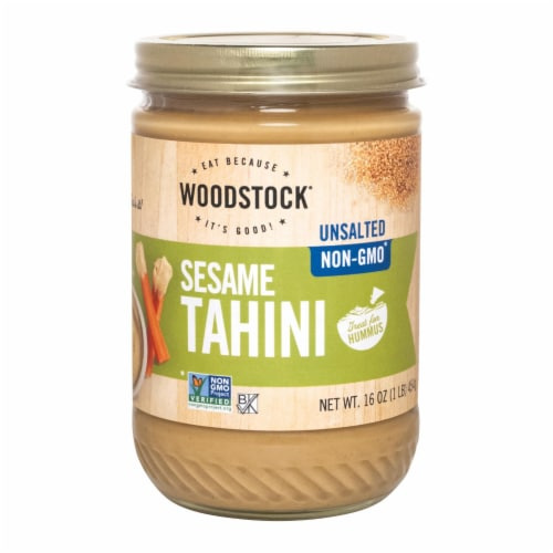 Woodstock Unsalted Sesame Tahini - 1 Each 1 - 16 OZ Perspective: front