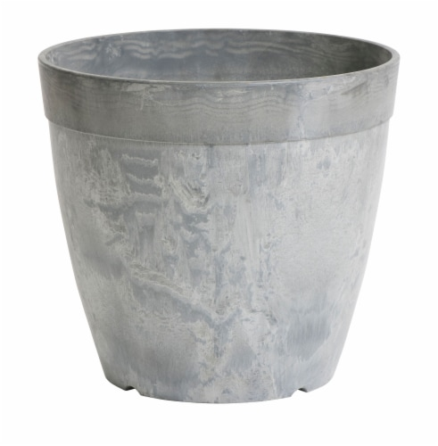 Round Dolce Pot - Gray Perspective: front