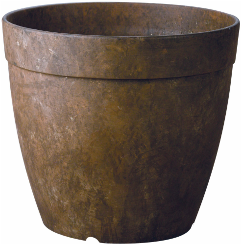Rustic Crust Round Dolce Planter - Rust Perspective: front